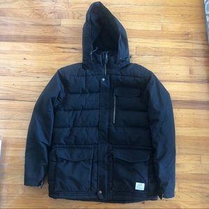 Men's O'Neill Black Hybrid Snowboard Jacket- Large